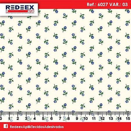 Tecido Adesivado Mini Rosa Azul V853-6027-03 -- 0,15 m x 1,00 m