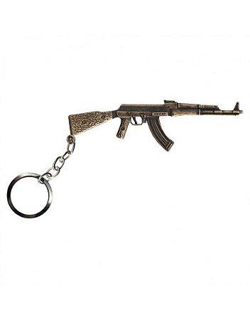 Chaveiro AK 47 Dourado - Bélica
