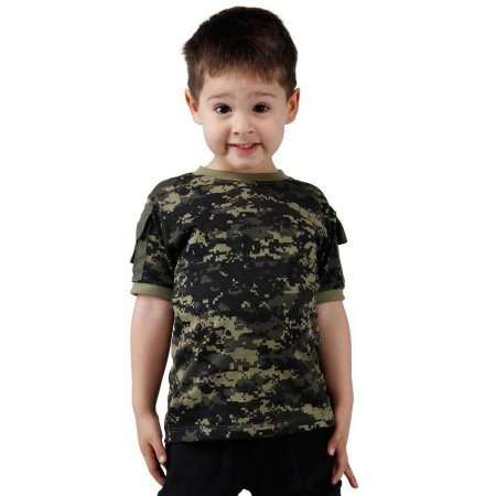 Camiseta Infantil Ranger Kids Camuflada Digital Pântano Bélica