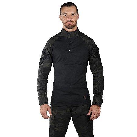 Combat Shirt Multicam Black Bélica