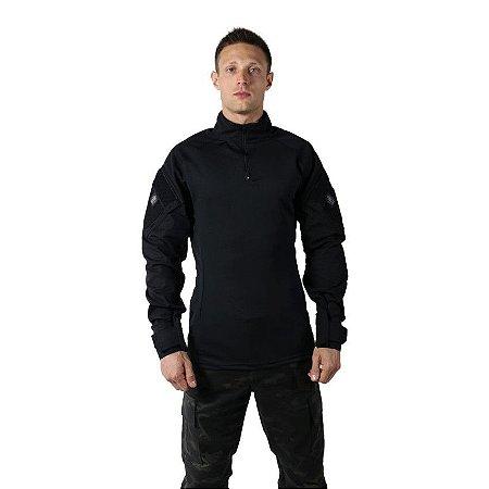 Combat Shirt Preta Bélica