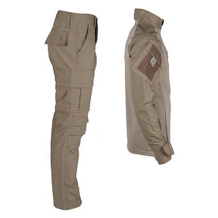 Farda Tática Bélica - Calça e Combat Shirt Coyote