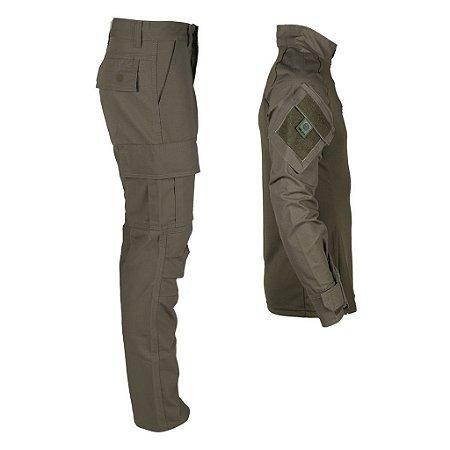 Farda Tática Bélica - Calça e Combat Shirt Verde
