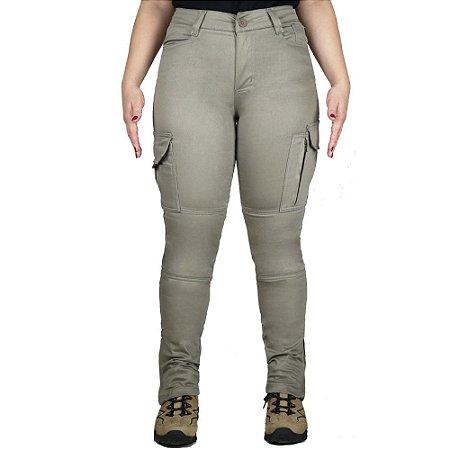 Calça Tática Militar Feminina Fem-Tac Areia Bélica
