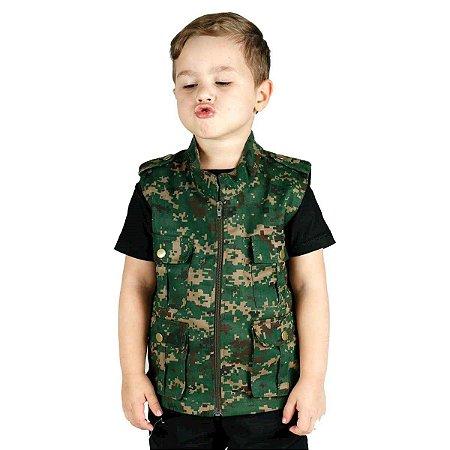 Colete Infantil Army Camuflado Verde Digital Treme Terra