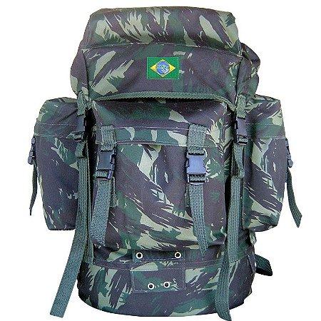 Mochila PQDT Camuflada EB Bandeira Do Brasil