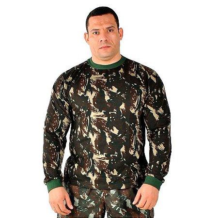 Camiseta Manga Longa Camuflada Exército Brasileiro (EB)