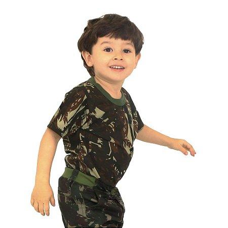Camiseta Infantil Camuflada Padrão Exército Brasileiro (EB)