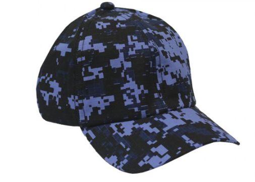 Boné Militar Rip Stop Liso  Camuflada Digital Woodland Azul - Atack