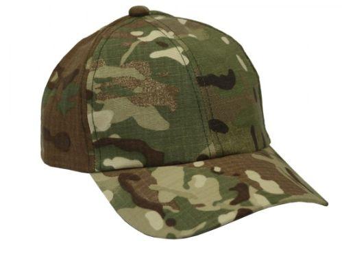 Boné Militar Rip Stop Liso  Camuflada Multicam Estonado - Atack