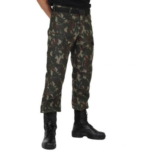 Calça Camuflada Padrão Exército Brasileiro Alta Solidez