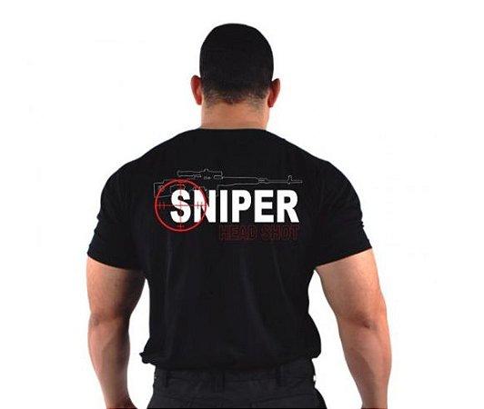 Camiseta Militar Bordada Sniper