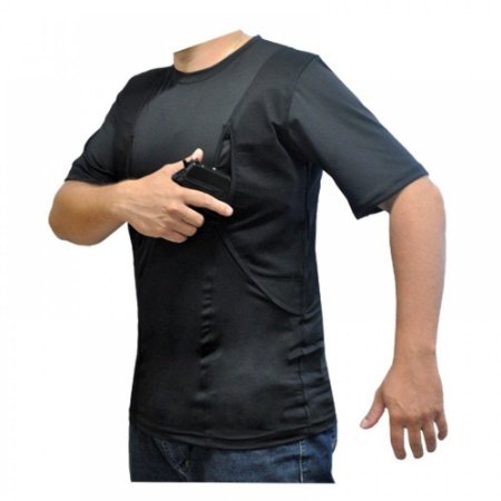 Camisa Tática Com Coldre Preta - Atack