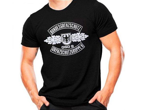 Camiseta Militar Estampada GSG 9 Preta - Atack