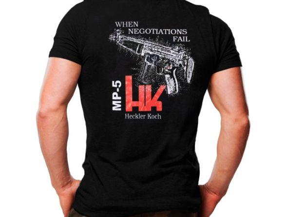 Camiseta Militar Estampada Hk Mp5 Preta - Atack