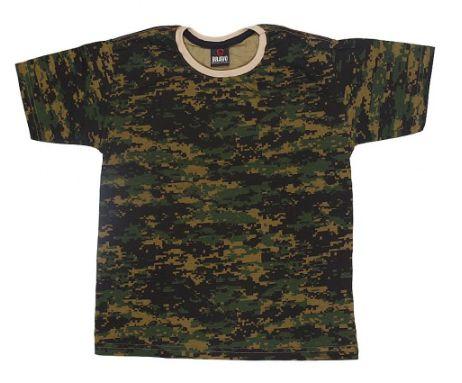 Camiseta Infantil Camuflada Digital Marpat - Bravo