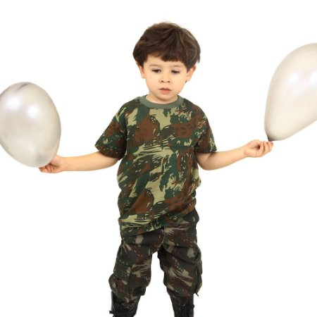 Camiseta Infantil Camuflada Elite Especial