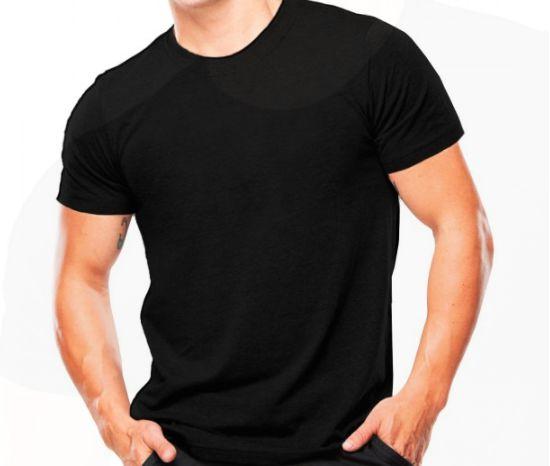 Camiseta Militar De Algodão Lisa Preta - Atack