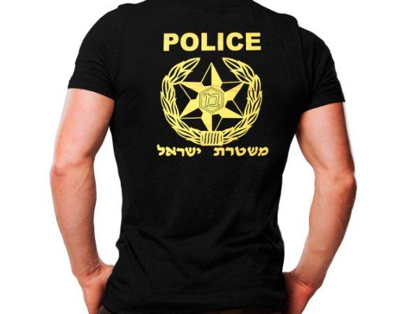 Camiseta Militar Estampada Police Preta - Atack