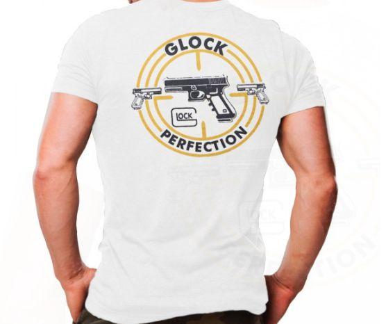 Camiseta Militar Estampada Glock Branca - Atack