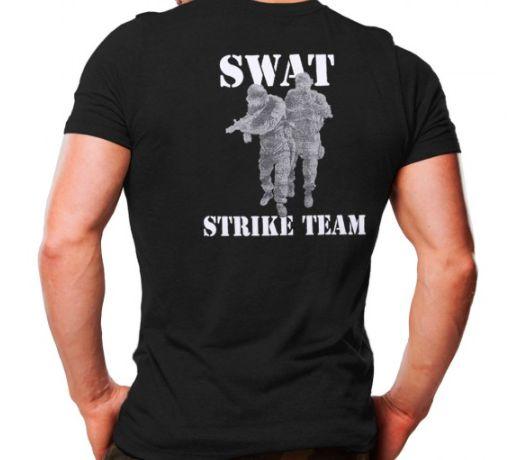 Camiseta Militar Estampada Swat Strike Team Preta - Atack