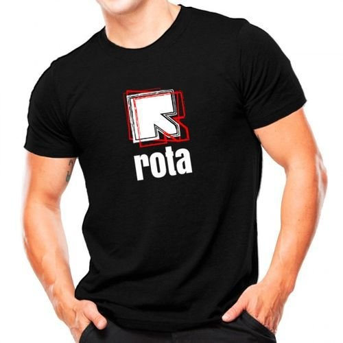 Camiseta Militar Estampada Rota Preta - Atack