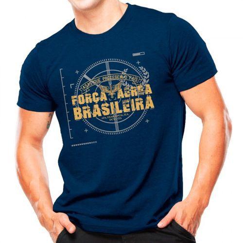 Camiseta Militar Estampada Força Aérea Brasileira Azul - Atack