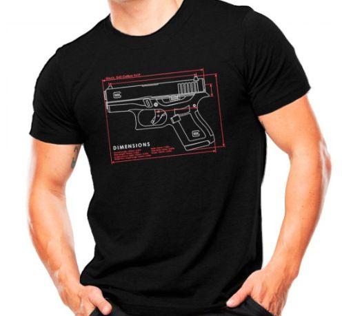 Camiseta Militar Estampada Glock G43 Preta - Atack