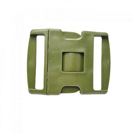 Fivela N.A 3 Travas Verde Em Polímero