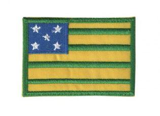 Patch Bordado Com Fecho De Contato Bandeira Goiás