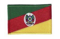 Patch Bordado Com Fecho De Contato Bandeira Rio Grande Do Sul
