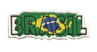 Patch Bordado Com Fecho De Contato Brasil Efeito