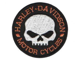 Patch Bordado Com Fecho De Contato Harley Davidson Ii