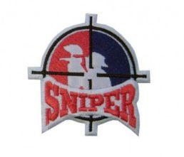 Patch Bordado Com Fecho De Contato Sniper