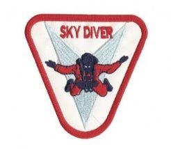 Patch Bordado Com Fecho De Contato Sky Diver