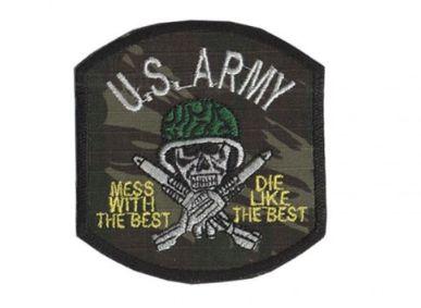 Patch Bordado Com Fecho De Contato U.S. Army