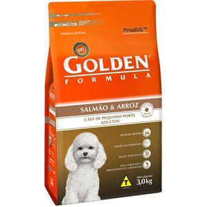 Ração Golden Fórmula Cães Adultos Mini Bits Sabor Salmão e Arroz 3Kg