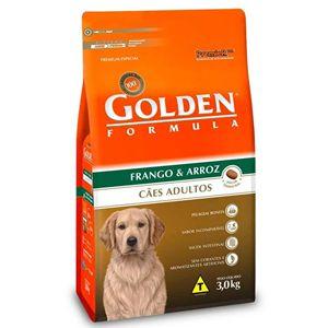 Ração Golden Fórmula Cães Adultos Sabor Frango e Arroz 3Kg