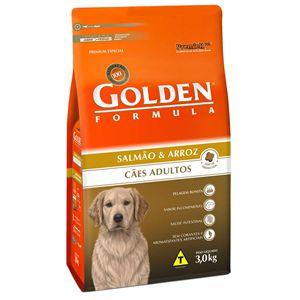 Ração Golden Fórmula Cães Adultos Sabor Salmão e Arroz 3Kg