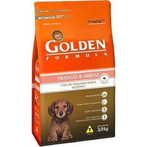 Ração Golden Fórmula Cães Filhotes Mini Bits Sabor Frango e Arroz 3Kg