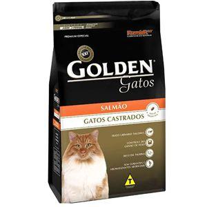 Ração Golden Gatos Adultos Castrados Sabor Salmão 10,1kg