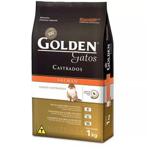 Ração Golden Gatos Adultos Castrados Sabor Salmão 1kg