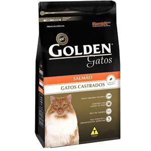Ração Golden Gatos Adultos Castrados Sabor Salmão 3kg