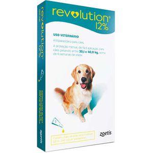 Revolution Antipulgas 20 a 40kg 12% 2ml Para Cães Zoetis