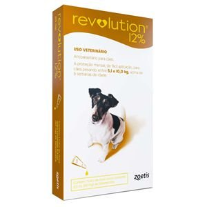 Revolution Antipulgas 5 a 10kg 12% 0,5ml Para Cães Zoetis