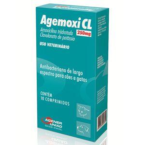 Antibiótico Agemoxi Cl 250mg 10 Comp Agener União