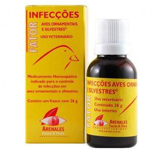 Fator  Infecções Aves Ornamentais e Silvestres Arenales Homeopatianimal 26G
