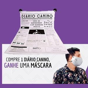 Tapete Higiênico Lávavel Barto Diário Canino + Máscara