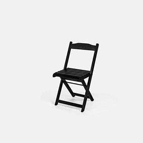 Cadeira Guará Madeira Preta