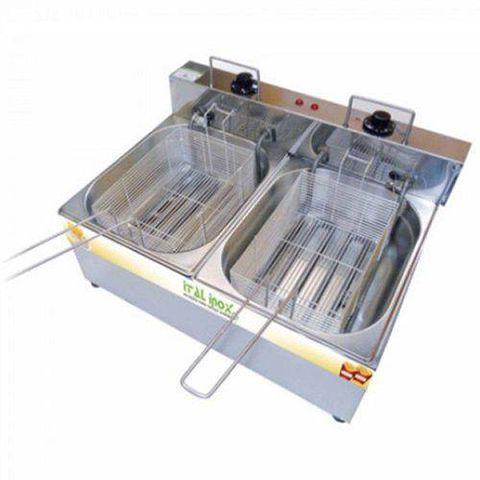 Fritadeira Elétrica Ital Inox 2 Cubas FEOI 10  - 110v